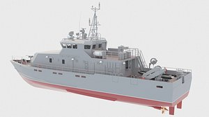 21980E Grachonok anti-sabotage boat 3D model