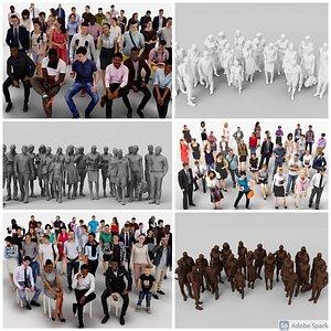 182X 3D People MEGAPACK model