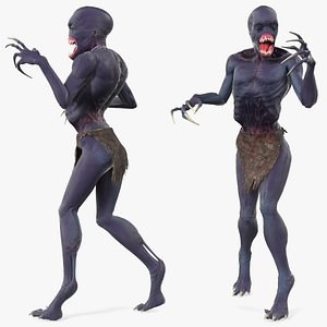 scary creature standing pose 3D model