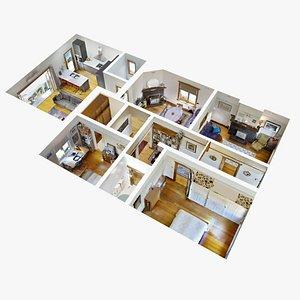 3D interior home model