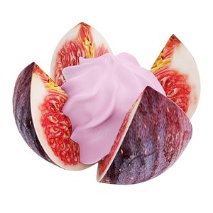 Fig flower with pink cream model