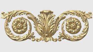 set acanthus friezes 3D