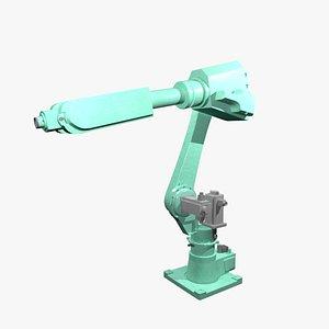 3D Mechanical industrial robotic arm
