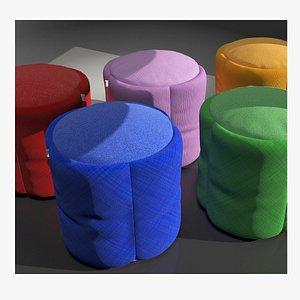 Puff model 1 vray pouf 3D
