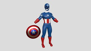 Captain America Outfit 04 - Character Design Fashion 3D