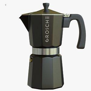 milano grosche stovetop espresso maker 3D model