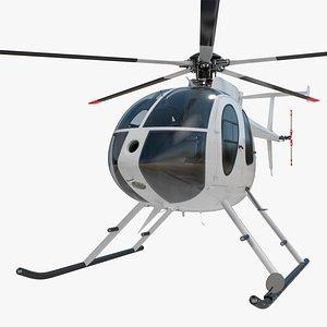 3D Light Utility Civilian Helicopter model