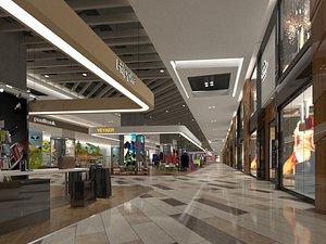 3D model shopping mall modern