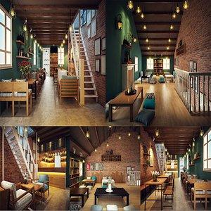 restaurant cafe bistro 3D