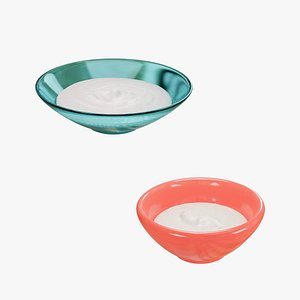3D model Yoghurt with Two Bowls