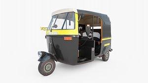 3D rickshaw bajaj auto model