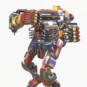 3D model Robot Fighter