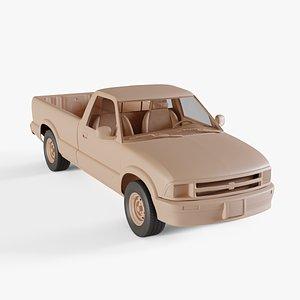 3D chevrolet s10 extended pickup