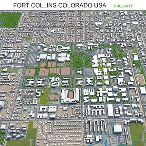 3D model Fort Collins Colorado USA