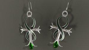 Earrings 001 3D model