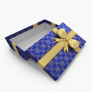 Gift Box Open Blue model