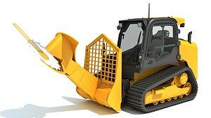 skid steer loader tree 3D model