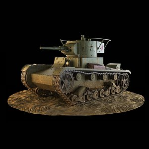 3D Tank T-26 model