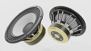 3D Speaker Woofer JBL - Blender 3d