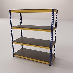 3D model Industrial Rack