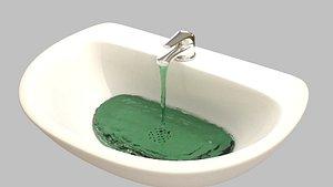sink bath bathroom 3D