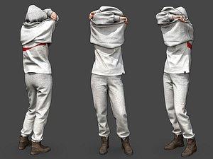 girl hoodie 3D