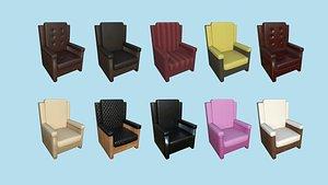 10 Armchair Collection - Furniture Interior Design model