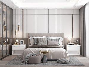 Modern Style Bedroom - 541 3D model