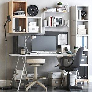 3D model IKEA office workplace 61