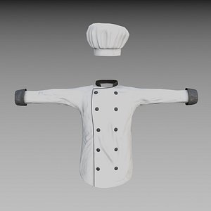 Chef jacket - low poly 3D