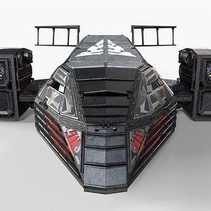 3D Spaceship Rook model