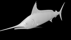 3D model marlin fish