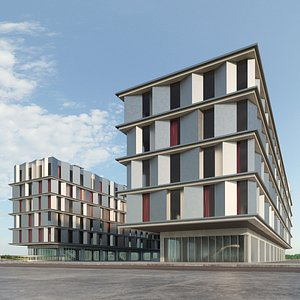 3D Residential building - Office and Housing block