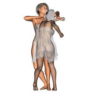 3D model girlfight3