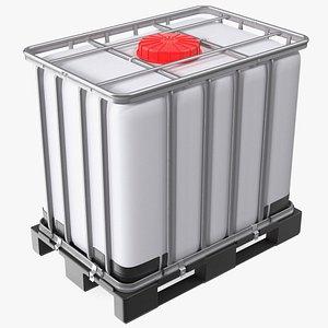 IBC Container 640 Litre UN Approved Plastic Pallet 3D model
