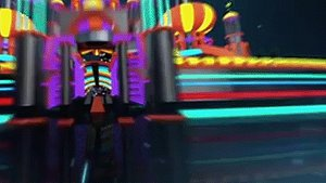 Neon Night View Carnival Las Vegas Building Complex Building Playground Ferris Wheel Rotating Wooden 3D