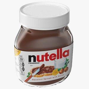Nutella Hazelnut Spread 3D