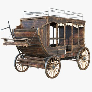 carriage wooden wood model