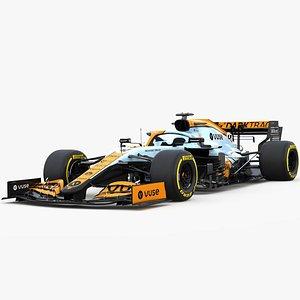 3D model F1 McLaren MCL35B livery Gulf 2021