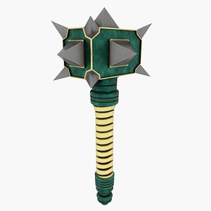 Spiked Mace 3D model