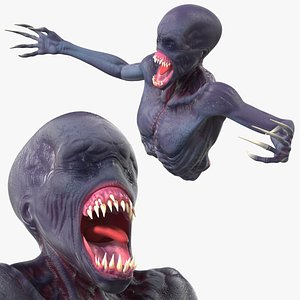 scary creature bust 3D