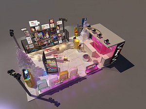3D Tidal beauty Chen pop-up shop multi-point exhibition hall