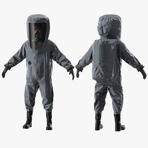 3D Fully Encapsulating Chemical Protection Suit Rigged for Maya