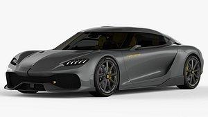 3D model koenigsegg car