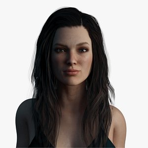 female rigged 3D model