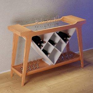 3D sideboard model