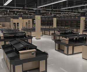 supermarket market 3D