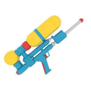 3D model retro super soaker water gun