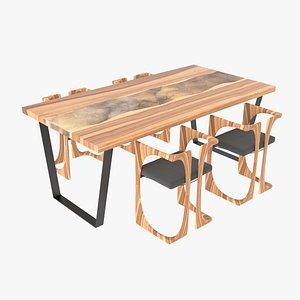 epoxy table 3D model