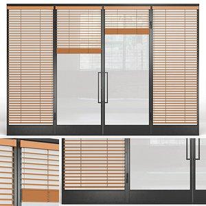 3D glass partition loft